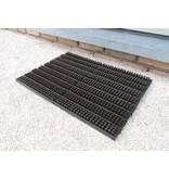 tapis brosses, usage extérieur, noir/brun, 40x60cm