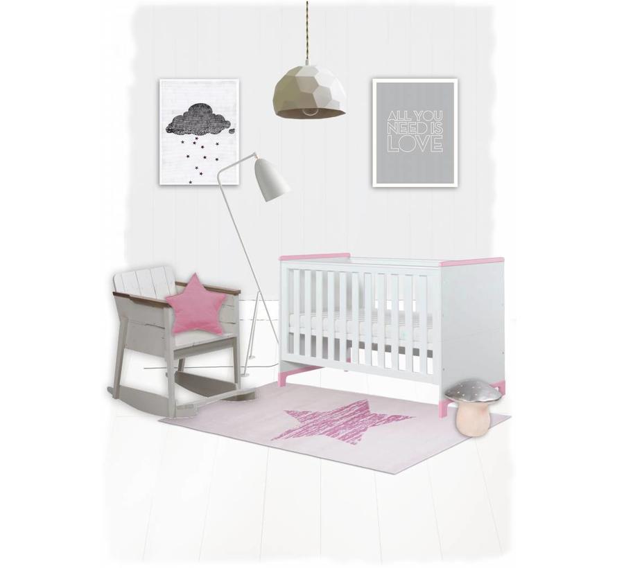 Tapis chambre bébé fille
