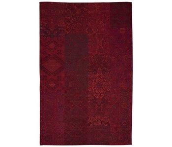 Tapis plat patchwork en coton et polyester rouge