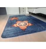 Groot tapijt met jeanslook voor op de kinderkamer 130x180cm - SUPERZACHT