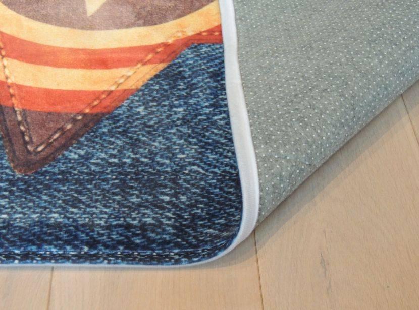 Kinderkamer Kinderkamer Online Inrichten : ... tapijt met jeanslook ...