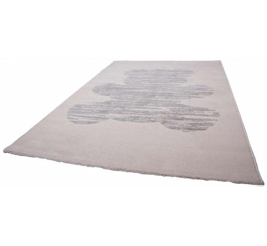 tapis vintage avec ours ecru 120 x 170 cm