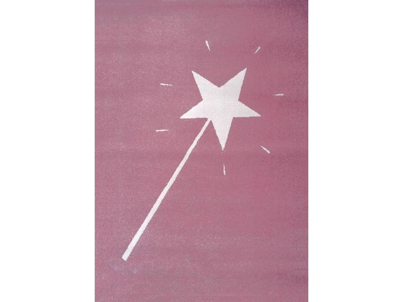 Tapis rose chambre fille 120x170cm
