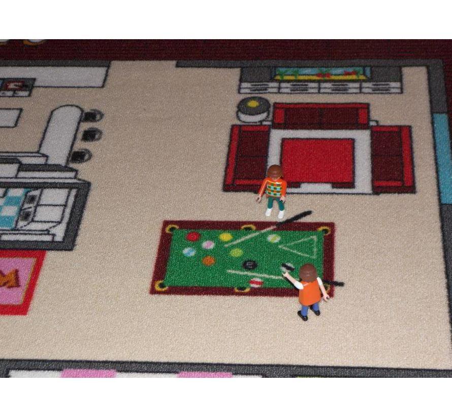 Tapis de jeu avec plan de la maison