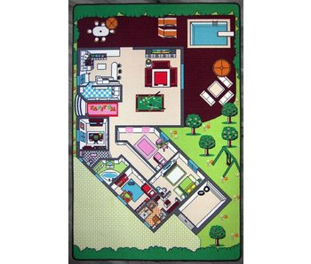 Speeltapijt huis