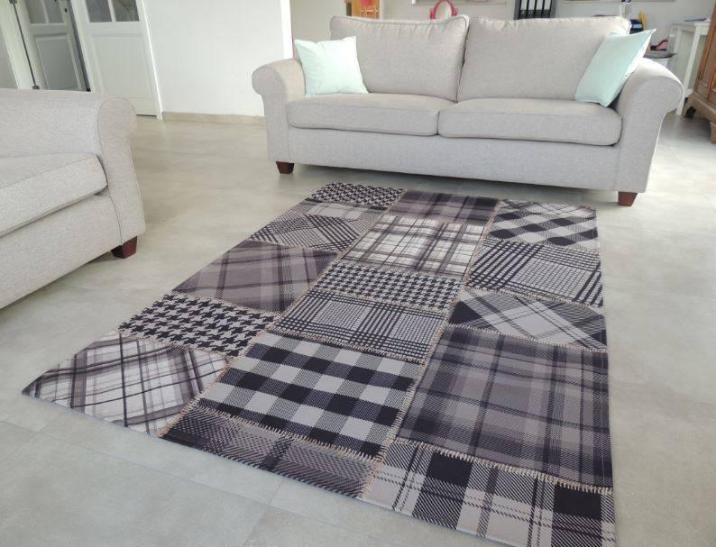 Tapijt voor landelijk interieur - Grijs tapijt ...