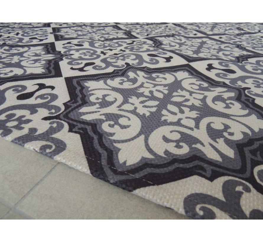 Tapis salon gris-noir 140x200cm