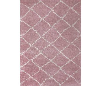 Roze tapijt met lange pool kinderkamer