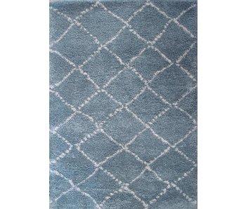 Blauw tapijt met lange pool jongenskamer