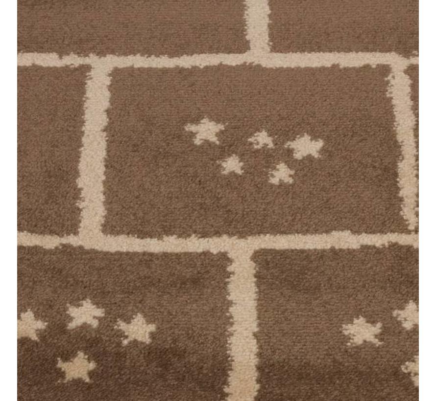 Tapis brun chambre enfant