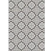 Vintage tapijt zwart/grijs
