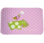 Kindertapijt roze met nijlpaard