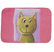 Kindertapijt roze met afbeelding kat