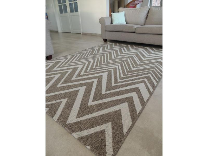 Groot sisal vlakgeweven tapijt