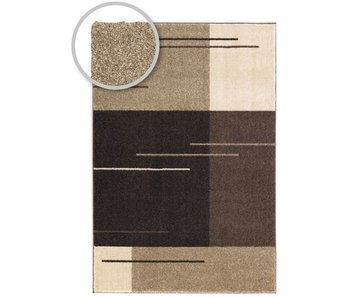 Modern bruin tapijt