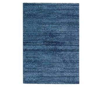 Modern blauw tapijt