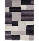 Tapis gris-noir moderne
