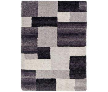 Modern grijs-zwart tapijt