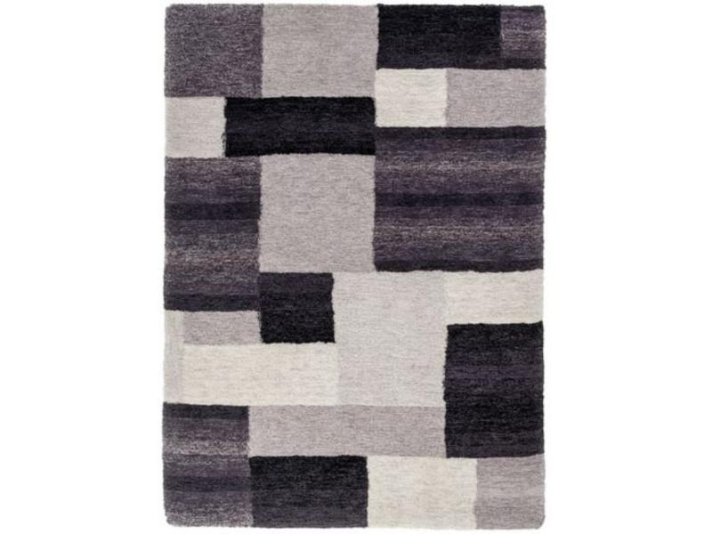Modern grijs zwart tapijt - Grijs tapijt ...