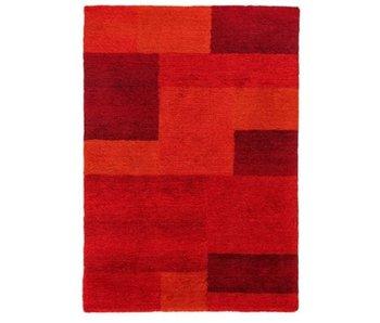 Modern rood tapijt