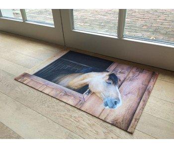 Deurmat met foto paard