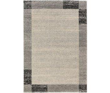Tapis moderne noir et gris