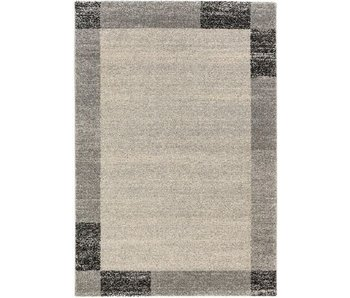 Zwart-grijs modern tapijt