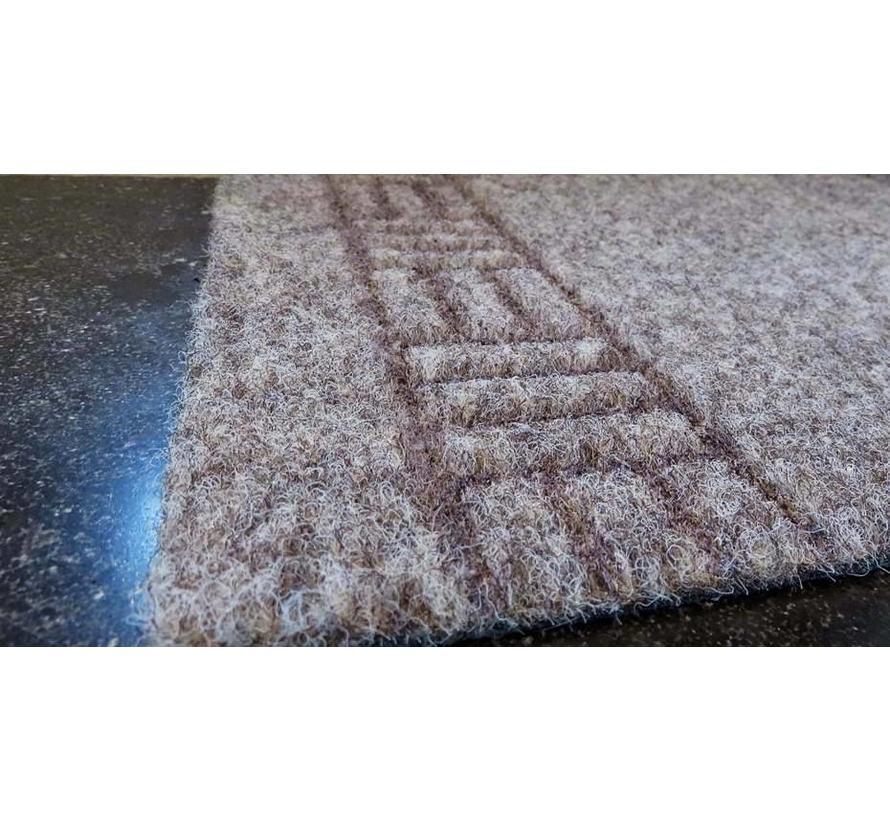 tapis de couloir pas cher, AIGUILLETE, 66 cm largeur, beige