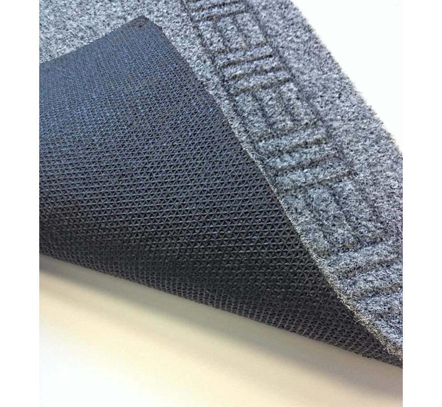tapis de couloir sur mesure, AIGUILLETE, 66 cm largeur, gris
