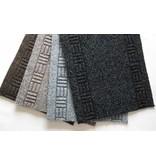 tapis sur mesure, AIGUILLETE, 50 cm de largeur, gris
