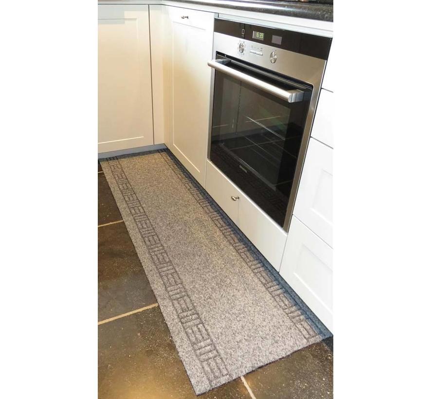 Keukenloper op maat grijs 50 cm