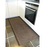 Malaga keukenloper op maat, bruin, NAALDVILT, breedte 66 cm