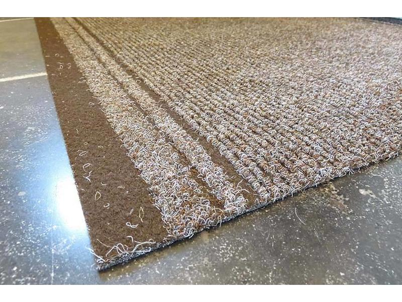 tapis de couloir sur mesure, AIGUILLETE, 66 cm largeur, brun