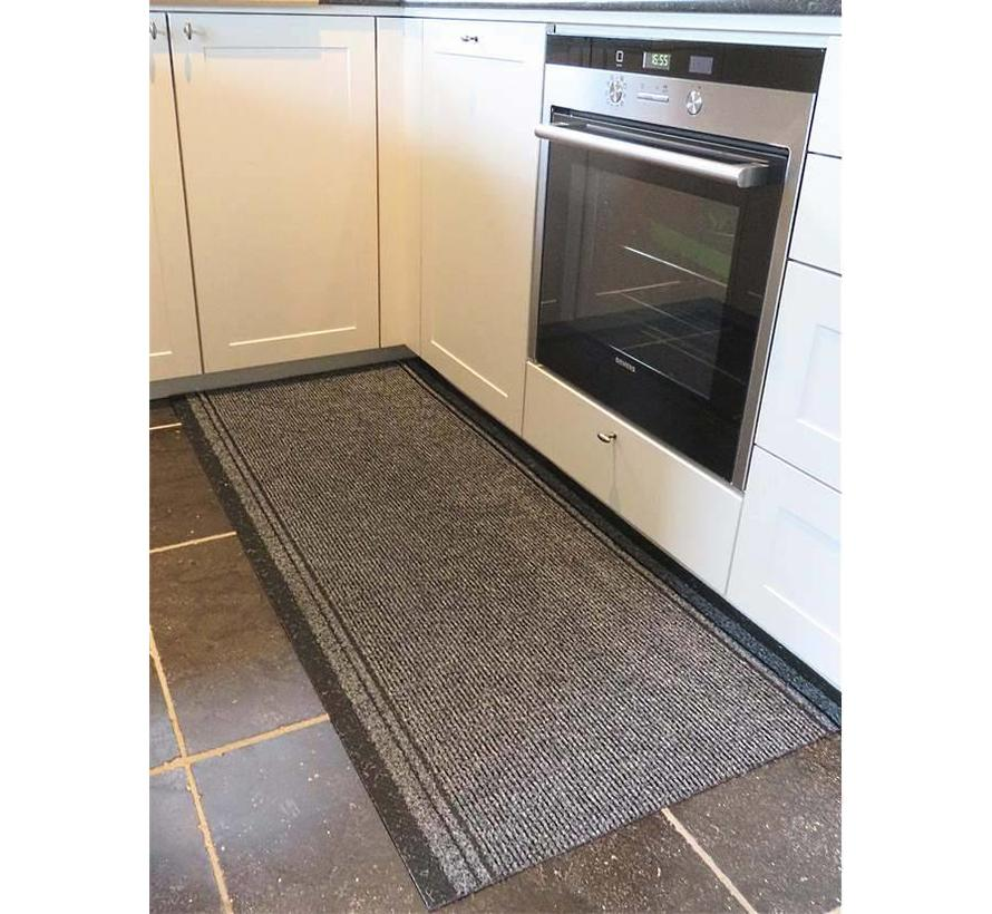 Keukenloper op maat grijs 66 cm