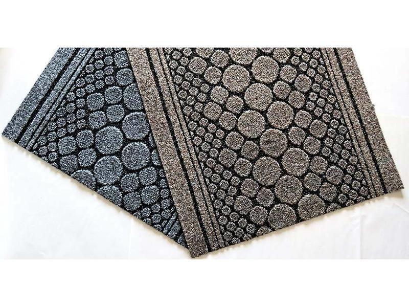 tapis de couloir sur mesure, AIGUILLETE, 67 cm largeur, gris