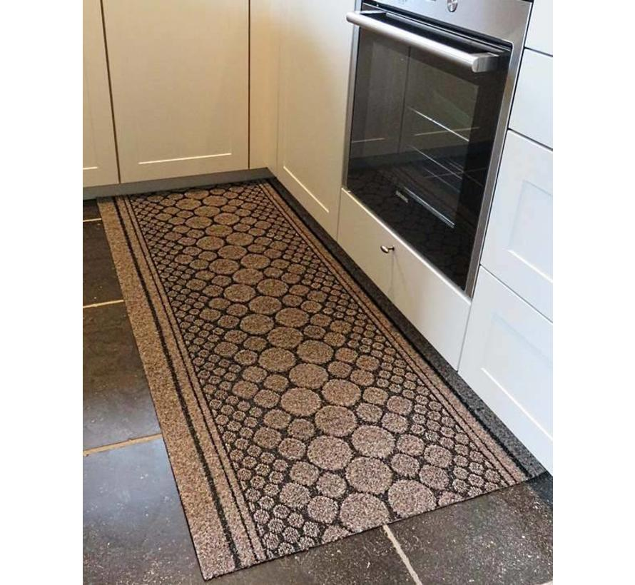 Keukenloper op maat bruin 67 cm