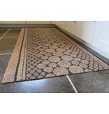 Tapis de couloir sur mesure, AIGUILLETE, 67 cm largeur, brun