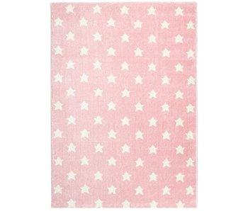 Mooi roze tapijt met sterren 120x180cm