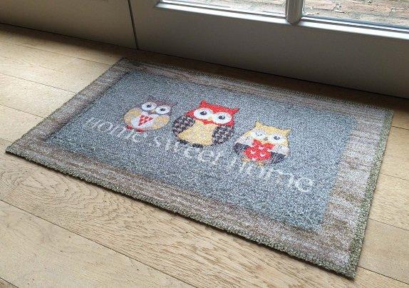 Bedrukte deurmatten met een goed absorberende werking