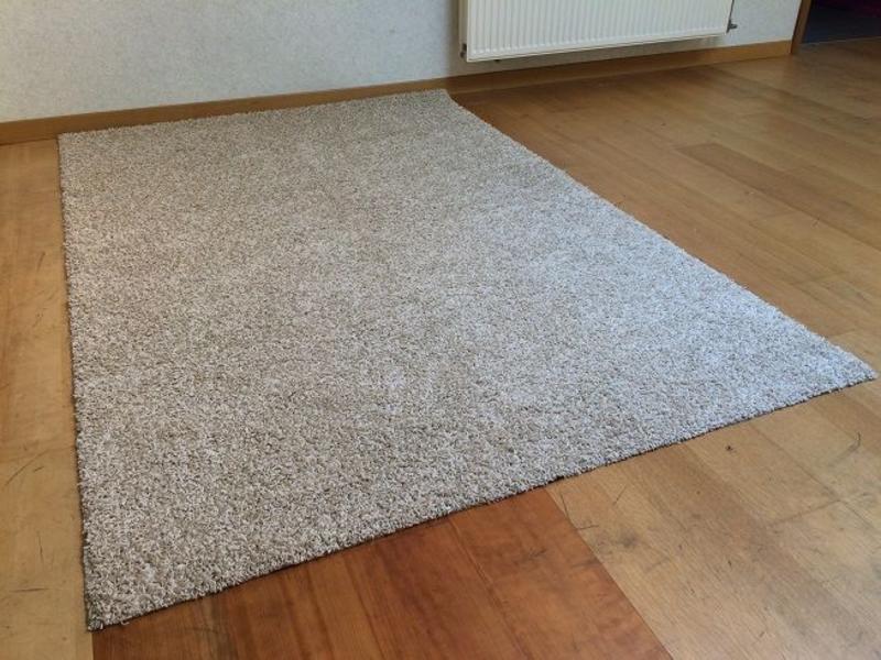 Beige frisé tapijt Sienna