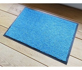 Deurmat turquoise Eco clean