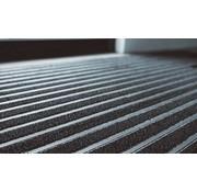 Entreemat planken antraciet en aluminiumstrips