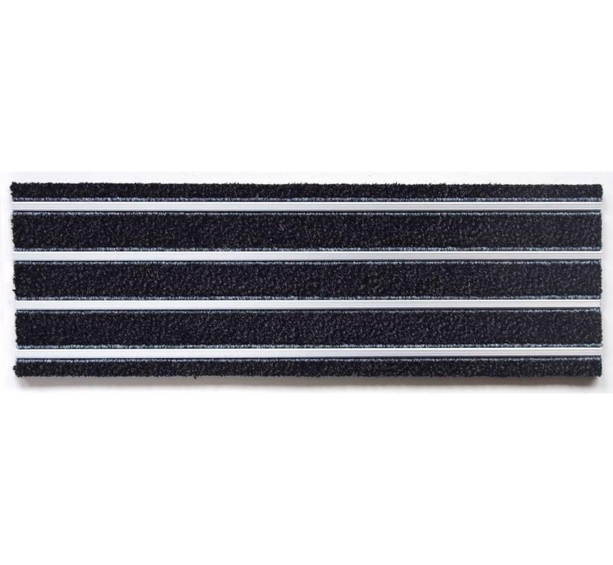 tapis d'entrée modulaires en format planche, combinaison tapis et  aluminium