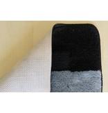 Set tapis de bain en gris et noir