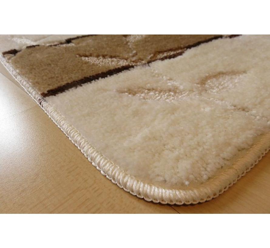Set tapis de bain en ivoire et brun