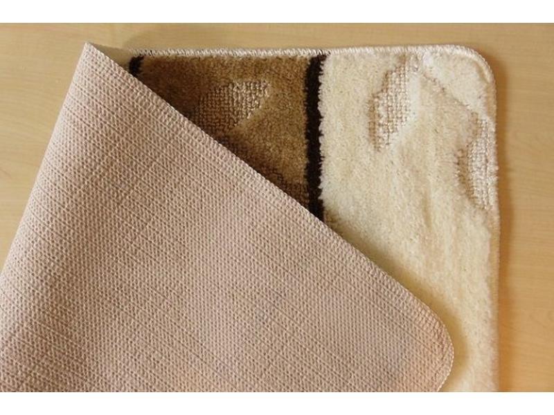 Badmattenset in ivoor en bruine kleuren