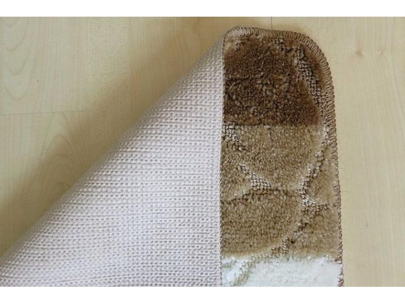 Badmattenset in bruine en ivoor kleuren