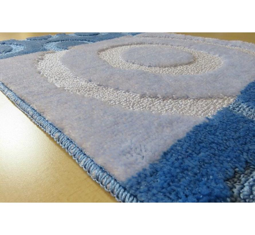 Set tapis de bain en teintes bleu