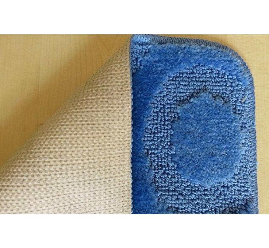 Set tapis de bain en bleu
