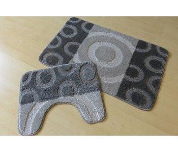 Set tapis de bain en couleur gris